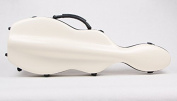 String House SG300W Fibreglass Violin Case Cello-Shaped White Full Size 4/4