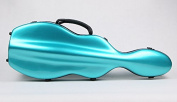 String House SG300PG Fibreglass Violin Case Cello-Shaped Pink Green Full Size 4/4