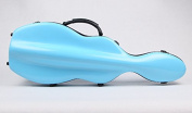 String House SG300SB Fibreglass Violin Case Cello-Shaped Sky Blue Full Size 4/4