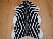 Zebra Animal Faux Fur Rug. Available in 4 Sizes (70cm x 100cm