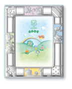 Silver Touch USA Sterling Silver Picture Frame, Pink