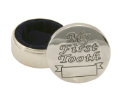 Stephan Baby Keepsake Silver Plated First Tooth Box