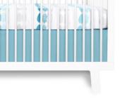Olli & Lime Forrest Crib Skirt, Blue/White