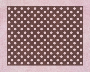 Pink and Brown Mini Polka Dot Accent Floor Rug by Sweet Jojo Designs