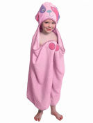 Pink Dog - One of a kind extra large Character Towel with paws and a tail, Frenchie Mini Couture