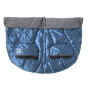 7 A.M. ENFANT Duo Double Stroller Blanket, Metallic Steel Blue