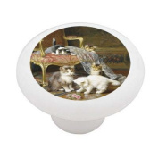 Mischief Makers by Huber Decorative High Gloss Ceramic Drawer Knob