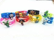 18pcs the Octonauts  (10 Shoe Charms + 8 Bracelet)  & Wristband Toys Party Gifts