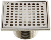 Jones Stephens D6094BN 10cm Brushed Nickel Square Spud Strainer