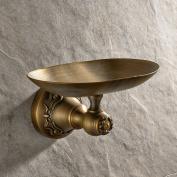 Luxury Art Engraved Wall Mount Bathroom Soap Dish Dark Antique Brass Finish Solid Brass Soap Holder Bathroom Shower Hardware