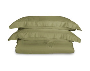 1200 Thread Count Egyptian Cotton 3pc Duvet Cover by ExceptionalSheets, CalKing/CalCalKing, Sage