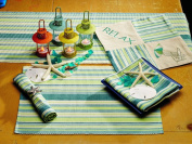 IHF Home Decor New Table Runner Linen Mint Design 100% Cotton Fabric Dining Table Runners 33cm x 90cm