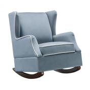 Dorel Living Baby Relax Hudson Upholstered Wingback Nursery Room Rocker, Baltic Blue