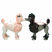 13cm Kitchenware Poodle Puppies White Tealight Candle Holder
