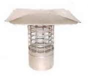 15cm Slip-In Round Stainless Steel 3/4 Mesh Cap