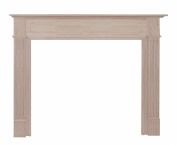 Pearl Mantels 110-50 Williamsburg Unfinished Fireplace Mantel, Interior Opening 130cm Wide by 110cm High