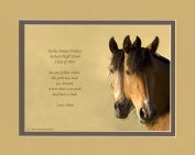 """Personalised Graduation Gift. Horses Photo with """"Do Not Follow Where The Path May Lead. Go, Instead, Where There Is No Path And Leave A Trail."""", 8x10 Double Matted. Great Gift for Graduation or Inspirational Gift."""