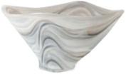 Shiraleah Large Taupe Polished Alabaster Squared Bowl