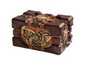 Steampunk Pressure Gauge Box Heart Gearwork Jewellery Trinket Keepsake Resin 12.7cm L