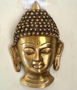 Buddha Head Wall Mask Brass, Metal Wall Hanging Himalaya Buddhist