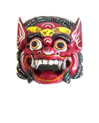 African Mask Wall Decor Hanging Barong Diety Mask Good Luck Fortune Mask- OMA® BRAND