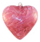 Hand Blown Glass Heart Ornament