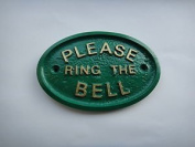 """""""Please Ring The Bell"""" House/Garden Wall Plaque in Green"""