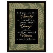 God Grant Serenity (8515) Framed Wall Plaque
