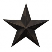CWI Gifts 4-Piece Barn Star Wall Décor Set, 14cm , Antique Black