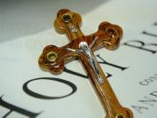Cross Crucifix Orthodox 14 Station 4 Lens Olive Wood11 Inch Jerusalem