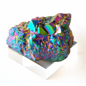 2.5 to 8.9cm Rainbow Titanium Coated Amethyst Crystal Cluster Decoration Gemstone Specimen