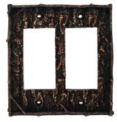 HiEnd Accents Pine Bark Double Rocker Plate