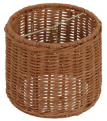 Upgradelights Wicker Chandelier Lamp Shade, Set of Six Shades, 13cm Retro Drum, Clips Onto Bulb. Model