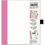 K & Company 30-685987 SMASH Paper Binder, White with Pink