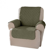 Innovative Textile Solutions Plush Wing Recliner Protector, Olive