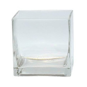 12piece 10cm Square Crystal Clear Glass Vase