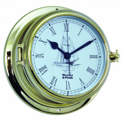 Weems and Plath Endurance II 127.8lz Clock with Ship Graphics, Brass