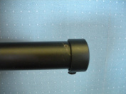Black Endcaps for 2.5cm Drapery Iron Hardware - sold as a pair