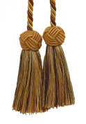 Brown & Gold, Double Tassel / Tassel Tie with 8.9cm Tassels, Baroque Collection Style# BCT Colour