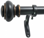 Decopolitan 2.5cm Urn Single Window Treatment Rod Set, 72 to 370cm , Antique Bronze