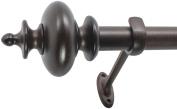 Decopolitan 2.2cm Urn Window Treatment Rod Set, 18 to 90cm , Copper