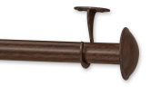 Source Global Out Door Curtain Rods, 28 to 52, Antique Brown