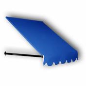Awntech 0.9m Dallas Retro Window/Entry Awning, 140cm by 90cm , Bright Blue