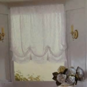 Simply Shabby Chic One Balloon Shade White Lace 150cm x 160cm