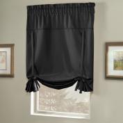 United Curtain Blackstone Blackout Tie Up Shade, 100cm by 160cm , Black