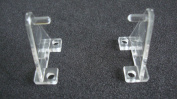 Hold Down Plastic Bracket For 5.1cm Horizontal Blind- Pack of 10 - Clear