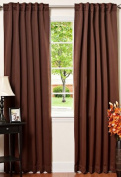 Best Home Fashion Thermal Insulated Blackout Curtains - Back Tab/ Rod Pocket - Chocolate - 130cm W x 210cm L -