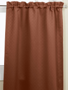 Lorraine Home Fashions Facets Room Darkening Blackout Tier Curtain Pair, 140cm by 90cm , Chocolate