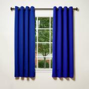 Best Home Fashion Thermal Insulated Blackout Curtains - Antique Bronze Grommet Top - Royal Blue - 130cm W x 160cm L -