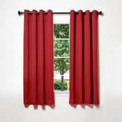 Best Home Fashion Thermal Insulated Blackout Curtains - Antique Bronze Grommet Top - Cardinal Red - 130cm W x 160cm L -